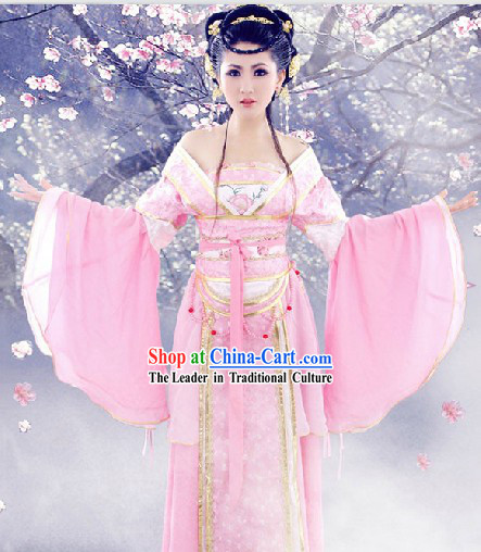 Ancient Chinese Pink SD Fairy Goddess Costumes