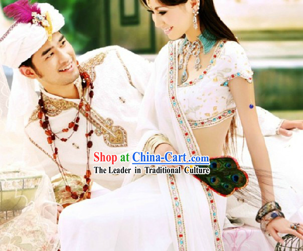 Traditional Indian White Wedding Dresses for Men and Women