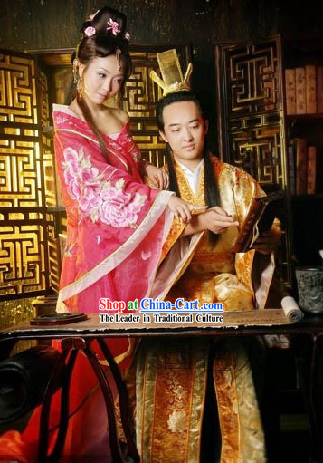 Traditional Ancient Chinese Tang Dynasty Couple Husband and Wife Clothes for Women