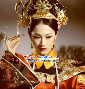 Empresses in the Palace Zhuan Huan Zhuan Costumes and Hat Complete Set