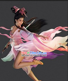 The Enchanting Shadow Nie Xiaoqian Costumes and Wig Complete Set