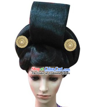 Ancient Chinese Tang Dynasty Female Wig