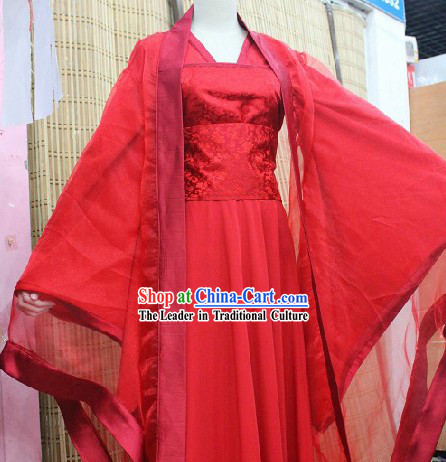 Ancient Chinese Red Tang Dynasty Beauty Cosplay Costumes