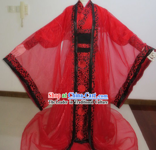 Ancient Chinese Red Wedding Outfit for Bridegroom