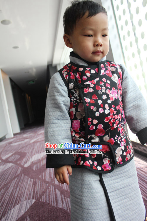 Chinese Classical Long Robe and Jacket for Kids