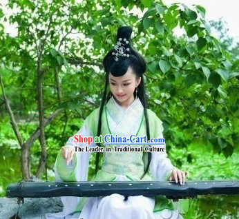 Traditional Ancient Chinese Light Green Lady Costume
