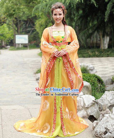 Traditional Ancient Chinese Tang Dynasty Princess Outfit Clothing for Women