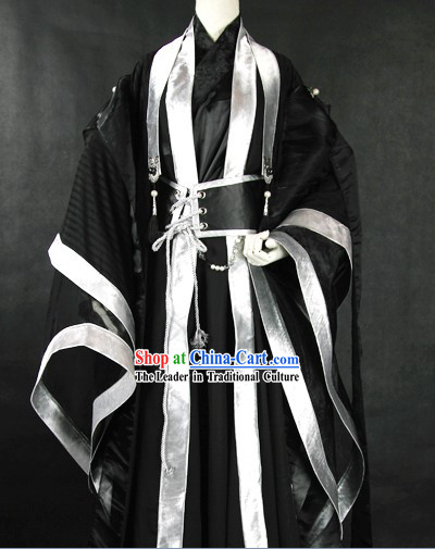 Ancient Chinese Black Swordsman Costumes for Men