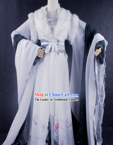 Ancient Chinese White Emperor Cosplay Costumes for Men