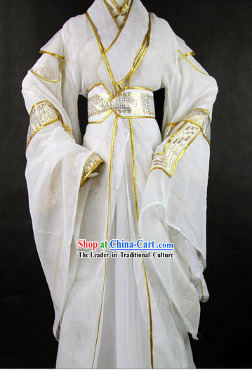 Ancient Chinese White Cosplay Costumes for Men