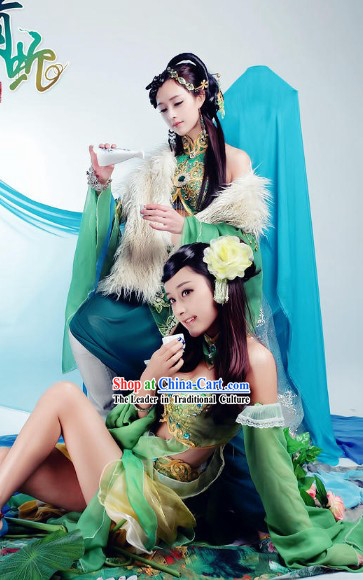Light Green Ancient Chinese Style Numen Cosplay Costumes