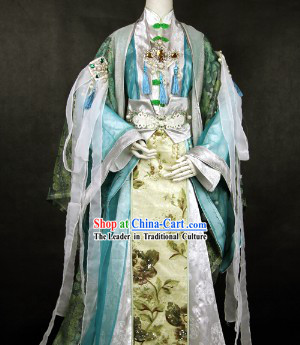 Traditional Ancient Chinese Cosplay Guzhuang Costumes Complete Set