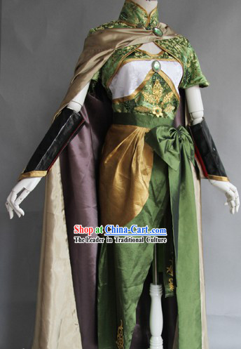 Traditional Ancient Chinese Three Kingdoms Da Qiao Costume and Cape Complete Set