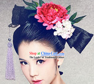 Chinese Ancient Style Butterfly Wig and Headdress