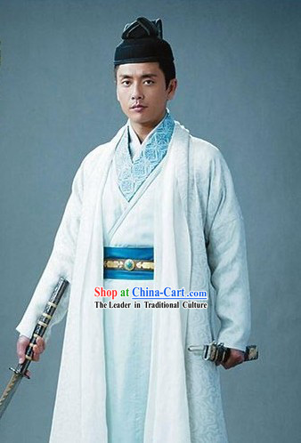 Ancient Traditional Chinese Detective Di Renjie Costumes and Hat for Men