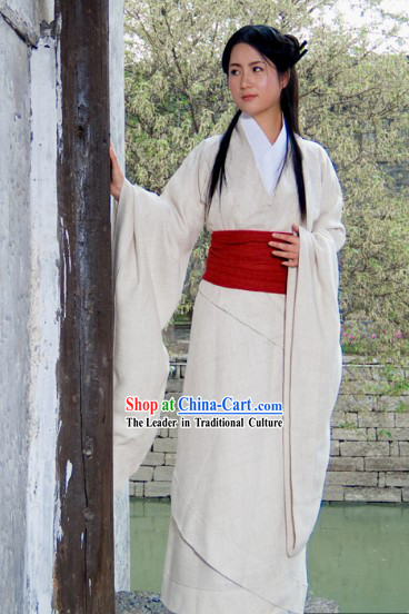 Ancient Chinese Wide Sleeves Hanfu Clothing for Women