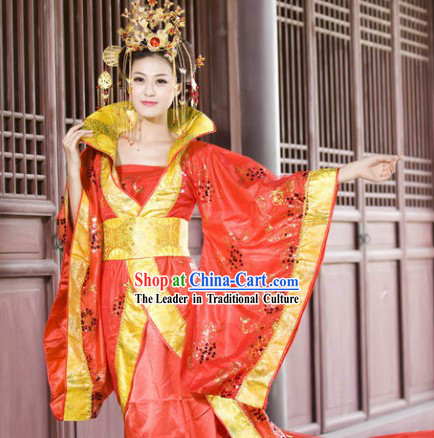 Ancient Chinese Red Empress Costume Complete Set