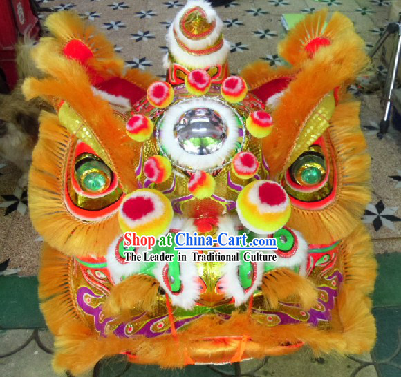 Old Style Chinese FUT SAN Lion Dance Costumes Complete Set for Adults