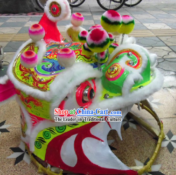 Chinese Folk Classic Mountain Lion Dance Costumes Complete Set for Adults & Chinese Folk Classic Mountain Lion Dance Costumes Complete Set for ...
