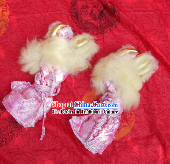 Dragon Fabric Lion Dance Claws for Professional Performance and Competition