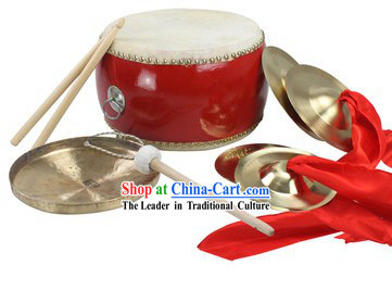 Chinese New Year Parade and Performance Drum, Gong and Cymbals Set