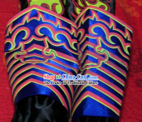 Blue Professional Competiton and Performance Dragon Dancer and Lion Dance Legs Wrappings