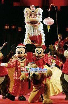 Professional Competition HOK SAN Lion Dancing Costume Complete Set