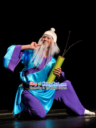 Chinese Stage Performance Grandfather Dance Costumes for Men
