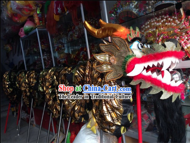 Top Beijing Black Dragon Dance Costume Complete Set