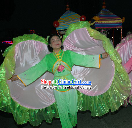 Chinese Traditional Clam Dancing Props Costumes Full Set