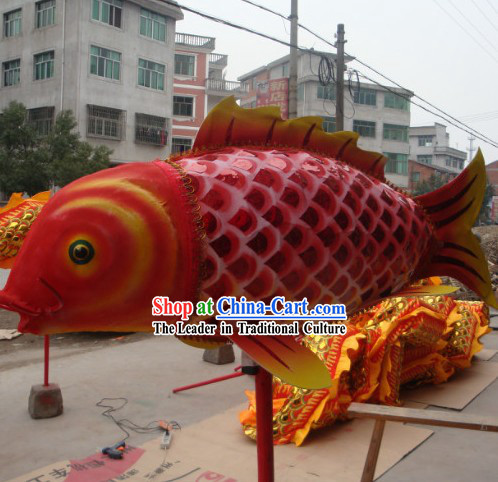 Traditional Chinese Lunar New Year Parade Fish Dance Prop