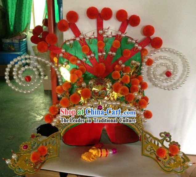 Traditional Chinese Peking Opera Gwan Gong Helmet