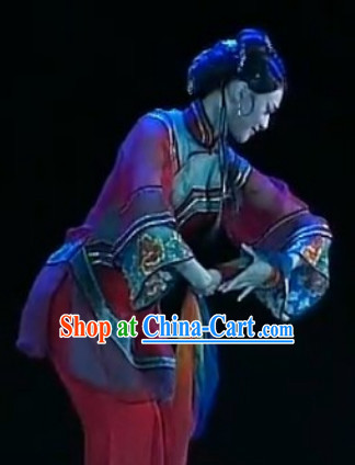 Chinese Classical Anhui Dance Costumes and Headwear for Women