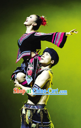 China Ethnic Clothing and Headwear Complete Set for Women