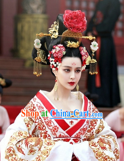 Chinese Tang Dynasty Female Emperor Wu Zetian Hair Accessories