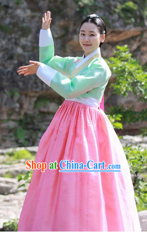 Ancient Korean The Musketeer Female Costumes Complete Set