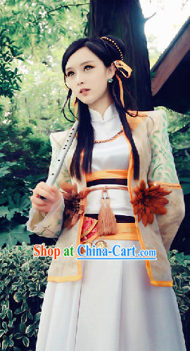 Chinese Knight Costumes and Headdress Complete Set
