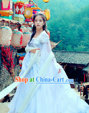 Chinese White Fairy Dresses Complete Set