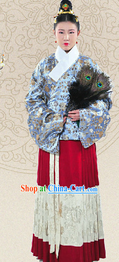 Chinese Classical Ming Dynasty Female Garment Complete Set