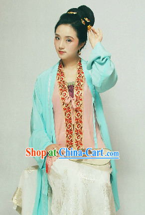 Chinese Classical Song Dynasty Hanfu Quju Dresses for Women