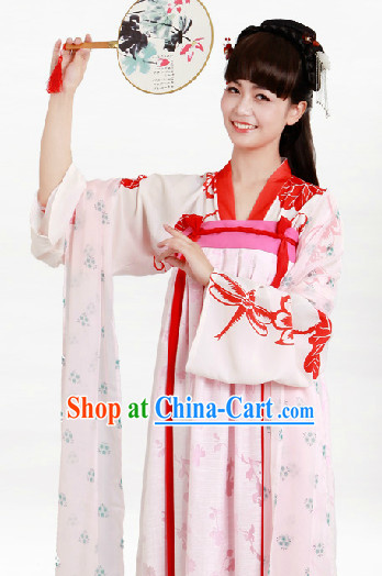 Ancient China Tang Blouse and Skirt Complete Set for Women