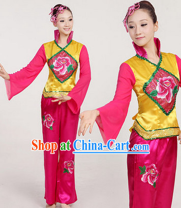 Professional Chinese Yangge Group Dancewear Complete Set