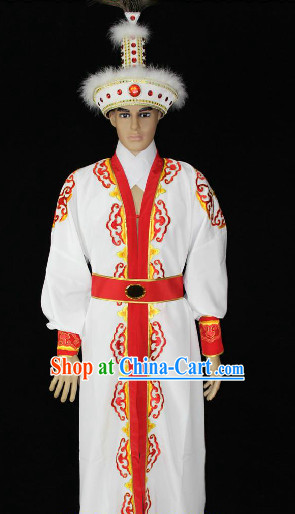 Ancient Chinese Desert Prince Costumes and Hat Complete Set
