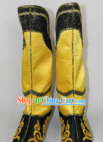 Traditional Chinese Yellow Hanfu Boots