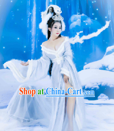 Traditional Chinese Fox Fairy Costumes Complete Set