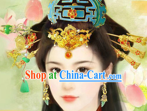 Asian Classical Wedding Hair Accessories