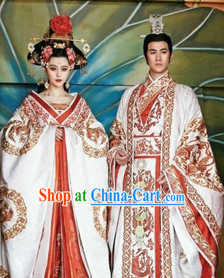 Ancient Chinese Tang Imperial Palace Wu Zetian Female Emperor Clothing