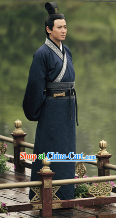 China Traditional Han Dynasty Hanfu Clothes for Men