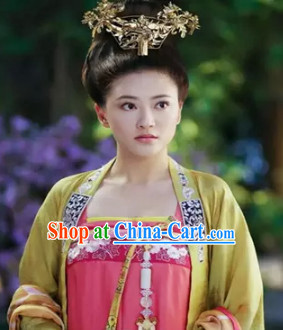 Ancient Tang Dynasty Empress Attire Complete Set