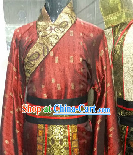 Ancient Chinese Court Official Costume and Hat for Men